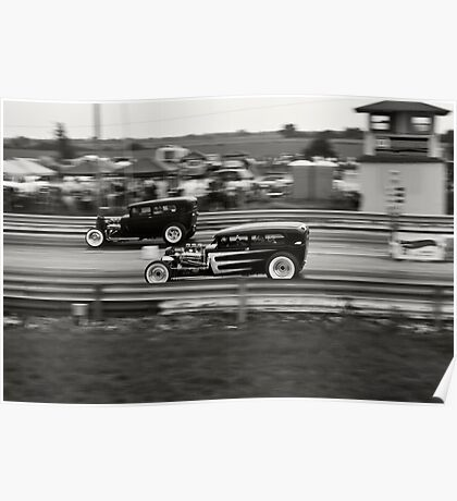 Nostalgia Drag Racing Poster