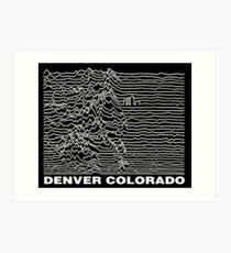 Denver Colorado, Unknown Ranges Art Print