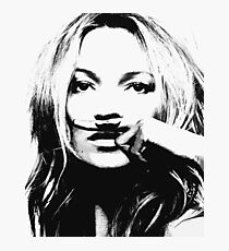 Kate Moss illustration, Woman, Girl, Lips print, Fashion art, Fashion print, Scandinavian art, Modern art, Wall art, Print, Minimalistic, Modern Photographic Print
