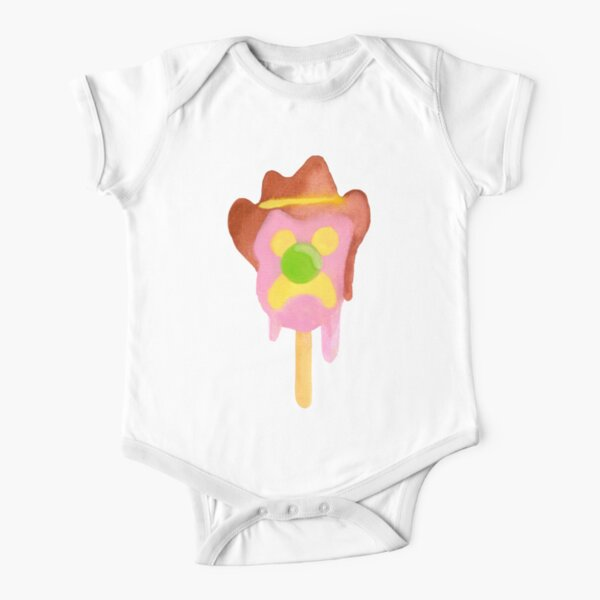 Bubble O Bill (Green Nose) - Blue Short Sleeve Baby One-Piece
