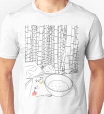 Bamboo Temple in Japan - line art Unisex T-Shirt