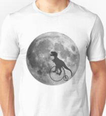 Dinosaur T rex riding a bike Unisex T-Shirt