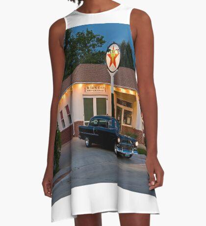 """The Filling Station"" A-Line Dress"