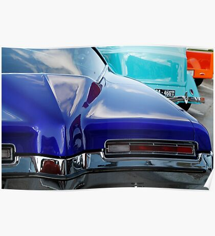 Blue Boattail Buick Poster