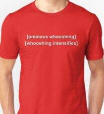 "Twin Peaks ""Ominous Whooshing"" Caption Unisex T-Shirt"