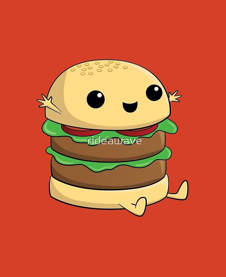 Kawaii Cute Cartoon Burger Ipad Case Skin By Rideawave Redbubble