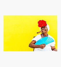 Cuban Woman In Havana With Cigar Photographic Print