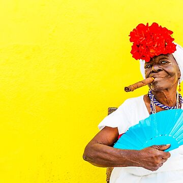 Cuban Woman In Havana With Cigar by tommysphotos