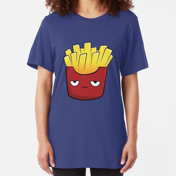 Cute Kawaii Cartoon Fries Slim Fit T-Shirt