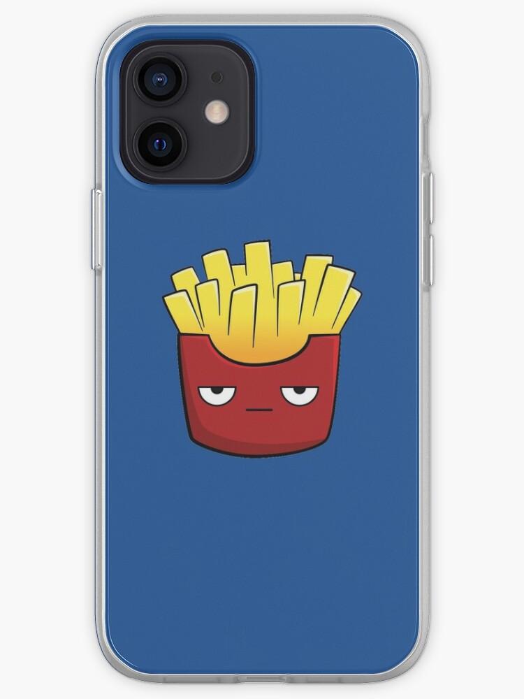 Frites de dessin animé mignon Kawaii   Coque iPhone