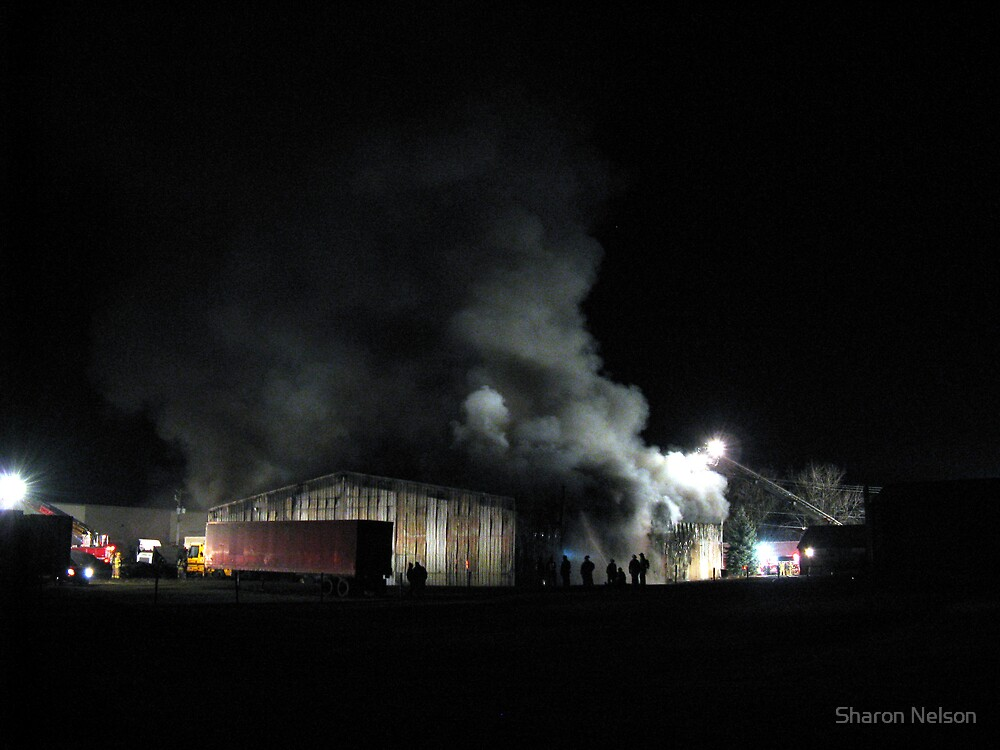Warehouse Fire #2 by Sharon Nelson