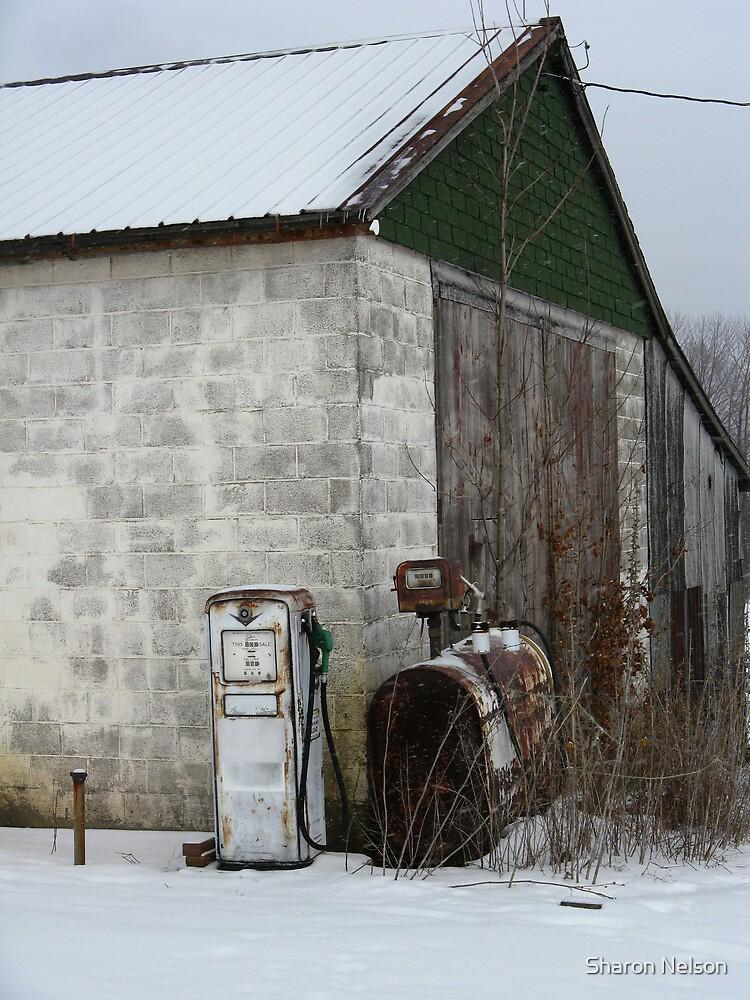 Farm Gas Pump #1 by Sharon Nelson