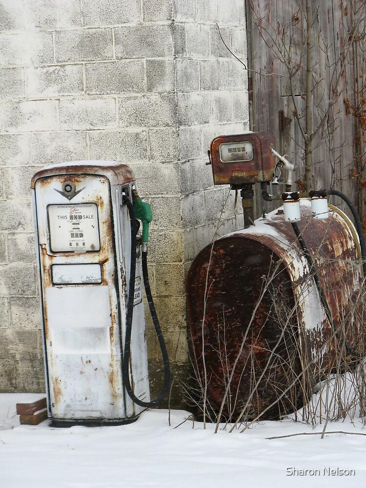 Farm Gas Pump #2 by Sharon Nelson