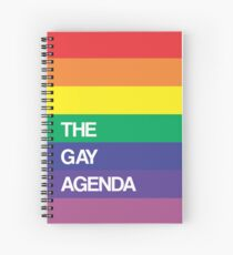 The REAL Gay Agenda Spiral Notebook