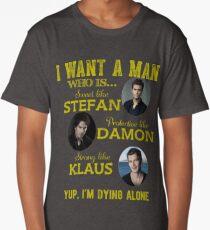 the vampire diaries - i want the man Long T-Shirt