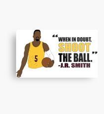 J.R. Smith Quote Metal Print