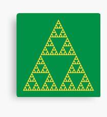 Triforce Fractals Canvas Print
