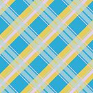 Pink, Blue, and Yellow Plaid Tartan by KarterRhys
