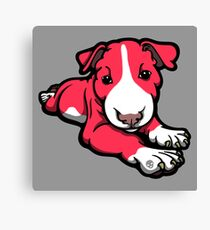 Chilled Bull Terrier Puppy Canvas Print