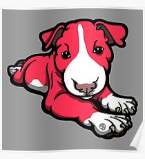 Chilled Bull Terrier Puppy Poster