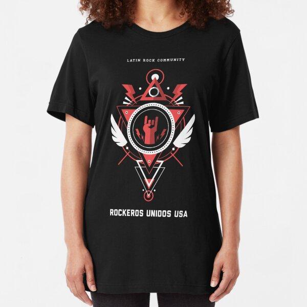 Rockeros Unidos USA  Slim Fit T-Shirt