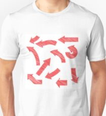 painted red arrows set T-Shirt