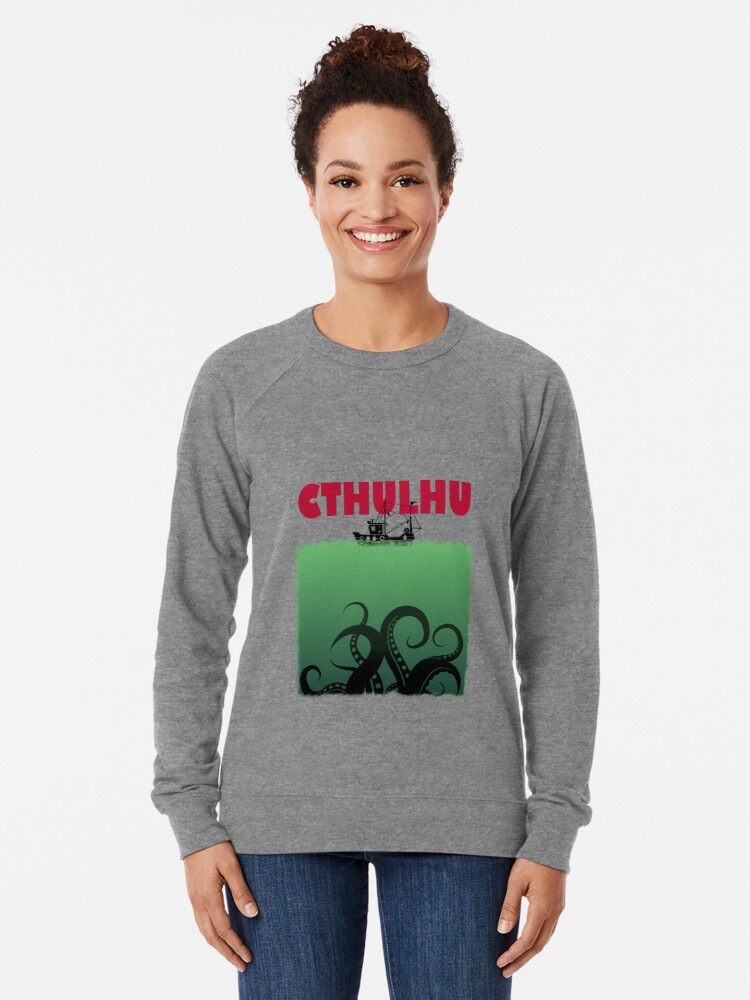 Alternate view of Cthulhu Jaws Lightweight Sweatshirt