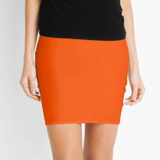 SOLID PLAIN INTERNATIONAL ORANGE -OVER 100 SHADES OF ORANGE ON OZCUSHIONS Mini Skirt