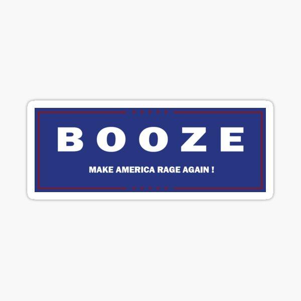 Boozy Trump Campaign Sticker Sticker