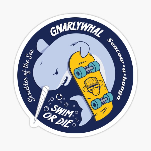 Gnarlywhal - Multicolor  Sticker