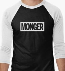 MONGER (Black) Men's Baseball ¾ T-Shirt