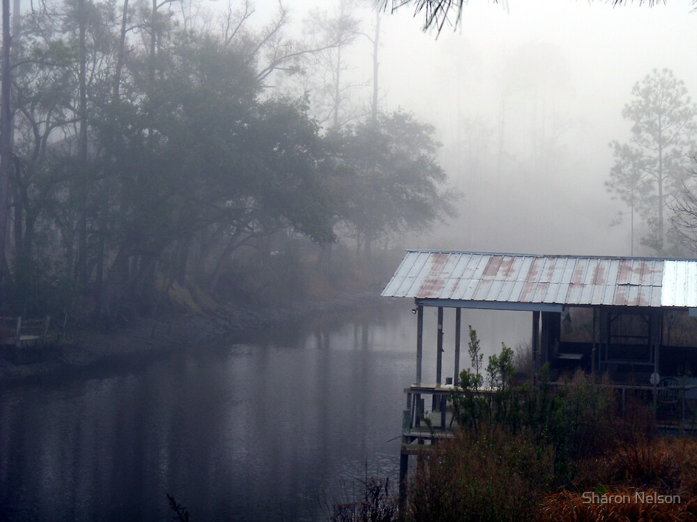 Fog over the Fisherman's Shack by Sharon Nelson