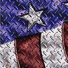 Diamond Plate Flag by RicksPix