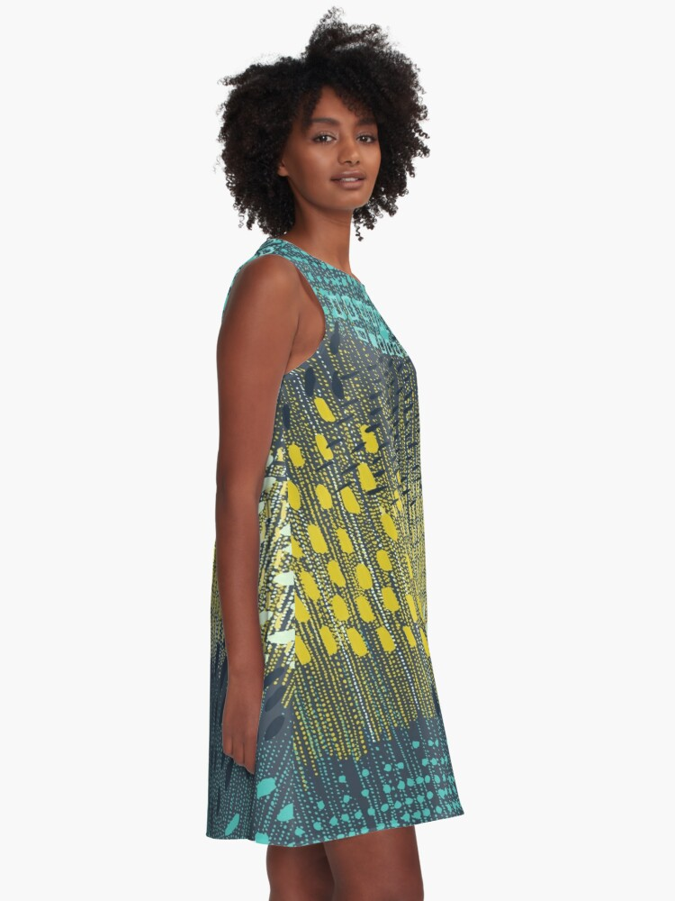 Alternate view of Cosmic Particles by Friztin A-Line Dress