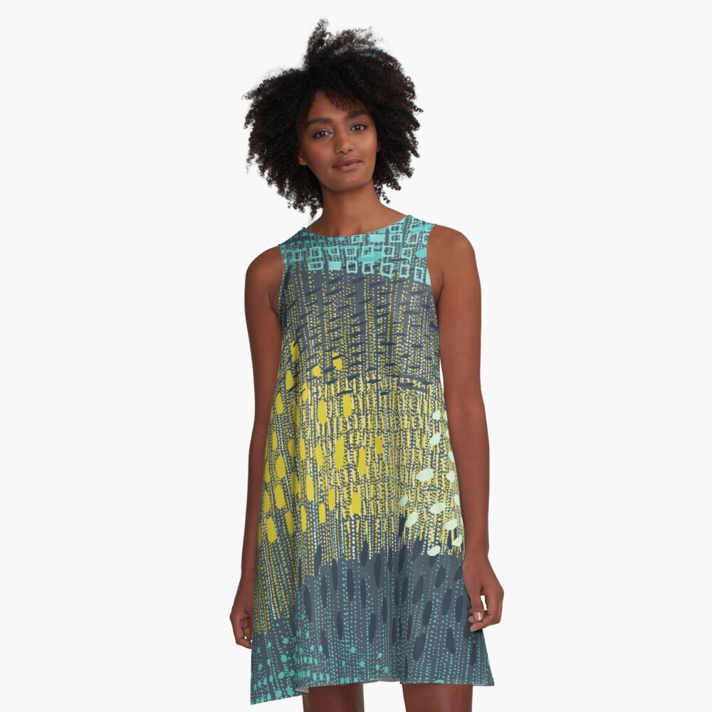 Cosmic Particles by Friztin A-Line Dress