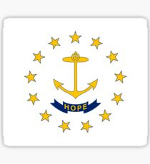Flag of Rhode Island Sticker