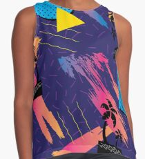 Tropical Violet Psychedelic Contrast Tank