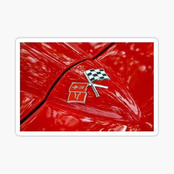 Corvette Flags on Red Sticker