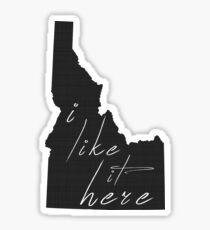 Pegatina Me gusta aquí Idaho
