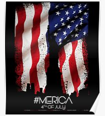Merica 4th Of July - American Flag Patriot Day Gift Poster