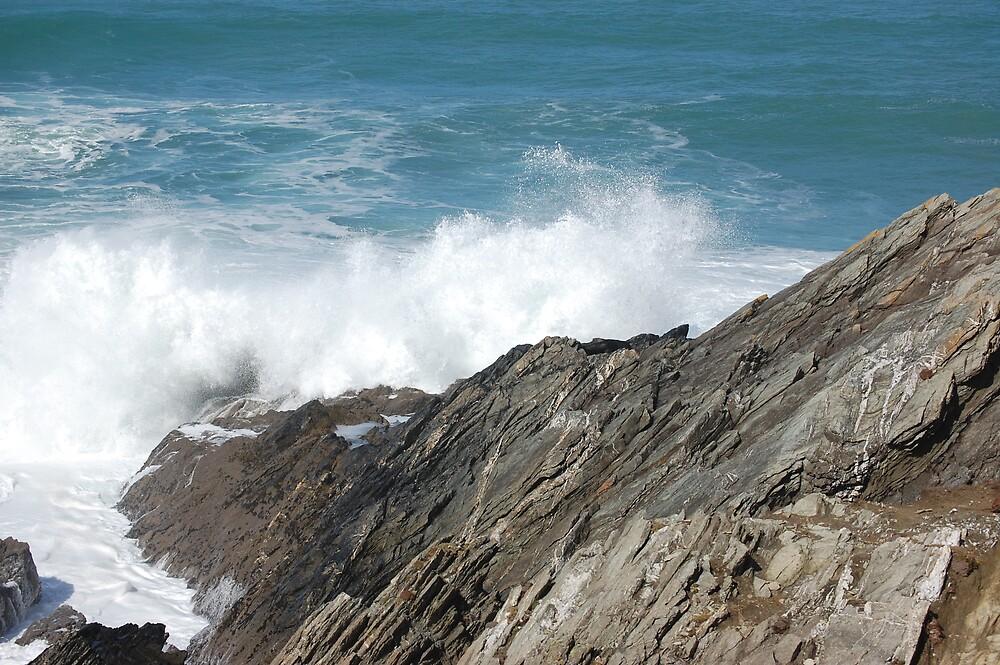 The HeadlandFistral Beach Cornwall by sandrab