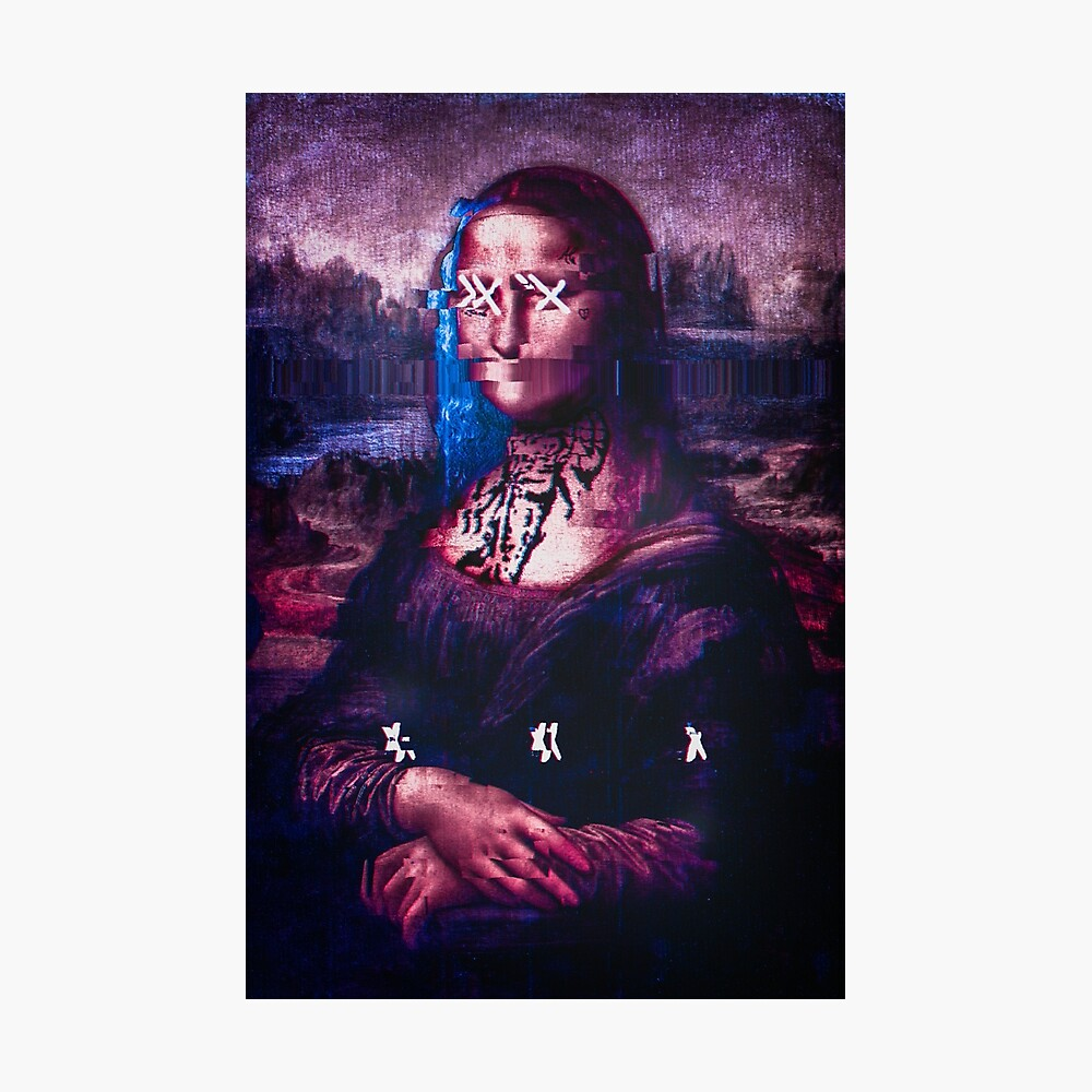 X y Mona Lisa Lámina fotográfica