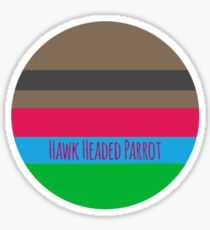 Hawk Headed Parrot Pallet Sticker