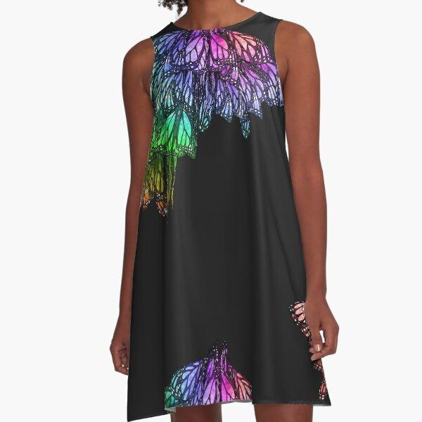 Rainbow Cluster A-Line Dress