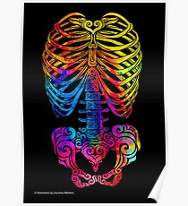 Swirly Skeleton Poster