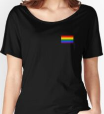 Gay Pride Flag - Minimalist T-Shirt Women's Relaxed Fit T-Shirt