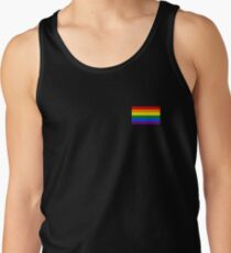Gay Pride Flag - Minimalist T-Shirt Tank Top