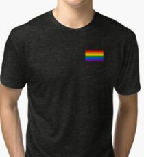 Gay Pride Flag - Minimalist T-Shirt Tri-blend T-Shirt