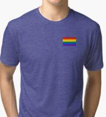 Gay Pride Flag - Minimalist T-Shirt Tri-blend T-Shirt