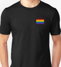 Gay Pride Flagge - minimalistisches T-Shirt Slim Fit T-Shirt